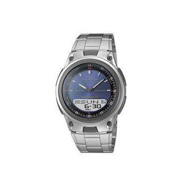 49ca8aaa64e Relógio Masculino Anadigi Casio Aw-80d-2avdf - Prata