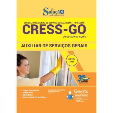Imagem de Apostila Concurso CRESS GO 2019  Auxiliar Serviços Gerais
