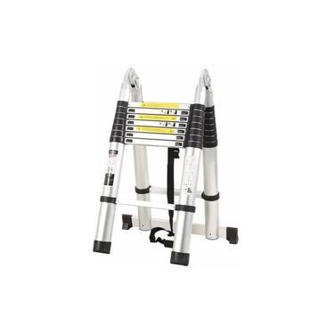 Escada Telescópica Dupla 16 Degraus 5m Original Aluminio Promoção !!!