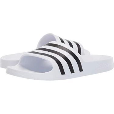 Imagem de adidas Adilette Aqua Chinelo feminino, White/Black/White, 9