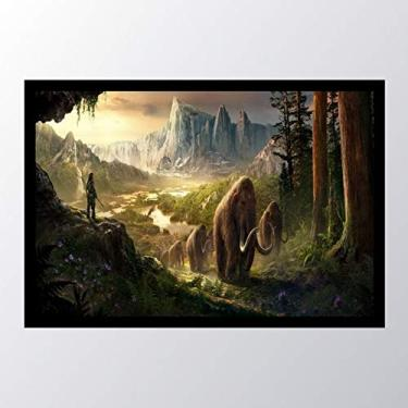 Quadro com moldura Far Cry Primal Mammoth_002