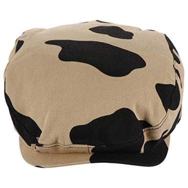 Amosfun Chapéu boina casual requintado chapéu de proteção solar chapéu boina chapéu de verão UV chapéu para mulheres e homens, Caqui, 25X23CM