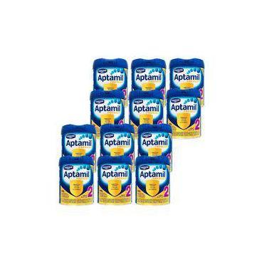 Aptamil Premium 2 800g Danone Kit com 12 Unidades