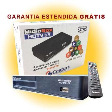 Receptor Parabólica Century Midiabox B3 Digital Hd + 58 CANAIS COM LNB