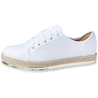 Sapato Casual Napa,Beira Rio,Feminino,Branco e Dourado,35