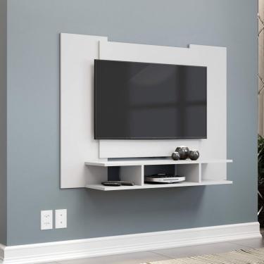 Painel para TV até 48 Polegadas com Nichos EJ Móveis Branco