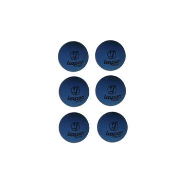Bola De Frescobol Impar Sports - Kit 6 Bolas Azul