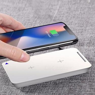 Carregador Sem Fio Qi 10w Rock W6 Pro (Suporta Carga Rápida) iPhone 11 / XS/Max/XR/X / 8/8 Plus/Galaxy S10 / S9 / S8 / S8 Plus/Note 10/9 / 8 (Branco)