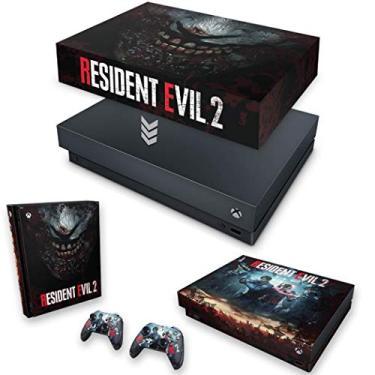 Capa Anti Poeira e Skin para Xbox One X - Resident Evil 2 Remake