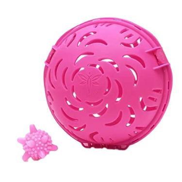 JUSTDOLIFE Sutiã de Lavagem Bola de Secagem Creativa Bola de Lavar Sutiã Lavar Sutiã com Bola Anti-Enrolamento, Rose Red, One Size