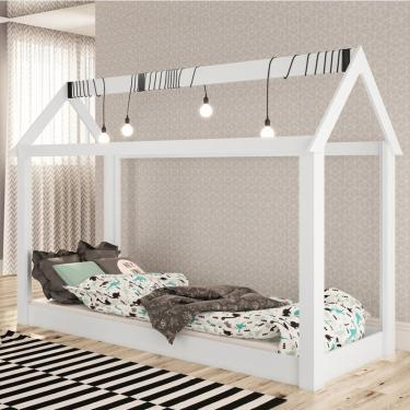 Cama Infantil Casinha Montessoriana Branco - Completa Móveis 073751999897e