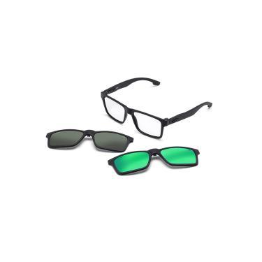 c2fd5ed96a539 Óculos de Grau Swap Clip On Mormaii Polarizado M6057ACE56 - Acetato Preto  Fosco