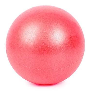 Festnight 25 centímetros de yoga bola anti-explosão grossa estabilidade bola mini pilates barre bola física (Red)