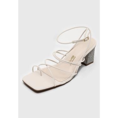 Sandália Santa Lolla Tiras Off-White Santa Lolla 0485.3011.018A.0056 feminino