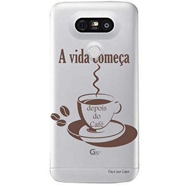 Capa Transparente Personalizada para LG G5/G5 SE Café - TP01