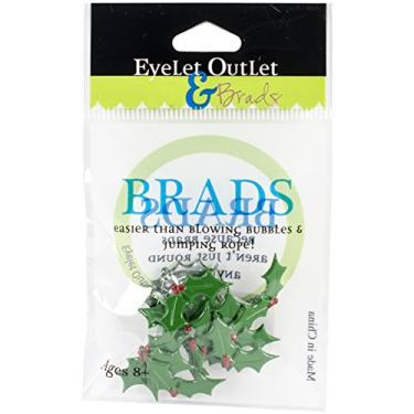 Eyelet Outlet QBRD2-284 Brads em forma de azevinho (pacote com 12)