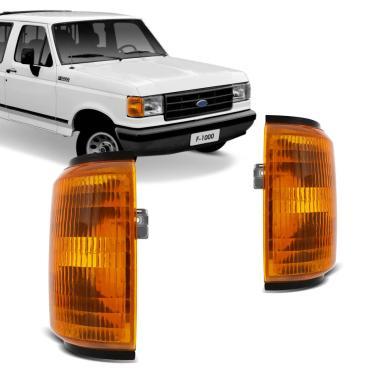 Lanterna Dianteira Pisca Ford F1000 F4000 1989 1990 1991 1992 1993 1994 1995 1996 1997 Âmbar Lado Direito + Lado Esquerdo