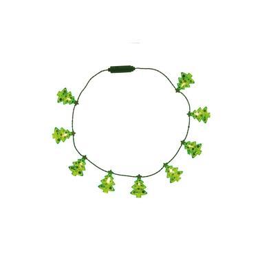 Enfeite Natal Decorativo Colar Led Lampada Mini Árvore 40Cm
