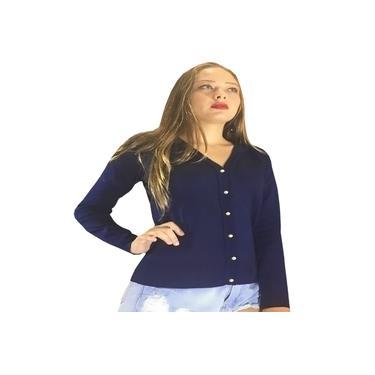 Blazer Feminino Azul Marinho Blaser Casual Blazers Manga Comprida Blazer Para Mulheres Império Tricô