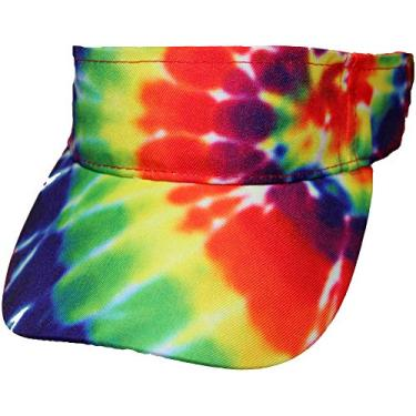 Boné com aba tie-dye tie-dye em espiral de arco-íris da Tie Dyed Shop