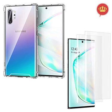 Capa Case Anti Shock Antiquedas + 2 Películas Gel Transparentes para Samsung Galaxy Note 10