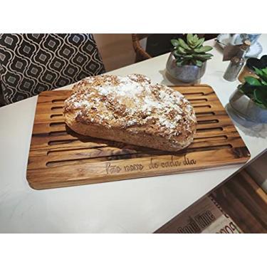Imagem de Tábua para pão com Migalheira 40x23cm