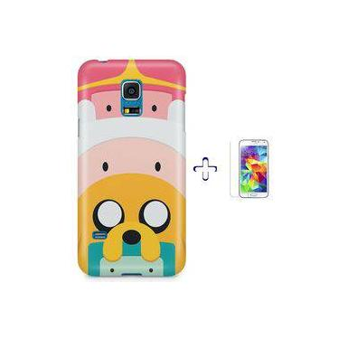 Kit Capa Case Tpu Galaxy S5 Mini Hora Da Aventura Adventure Time + Pel Vidro (bd01)