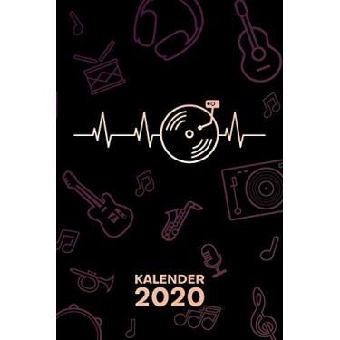 Kalender 2020: A5 Party Terminplaner für Discjockey mit DATUM - 52 Kalenderwochen für Termine & To-Do Listen - Disc Jockey Herzschlag Terminkalender DJ Heartbeat Jahreskalender Disco