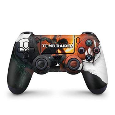 Skin Adesivo para PS4 Controle - Shadow Of The Tomb Raider