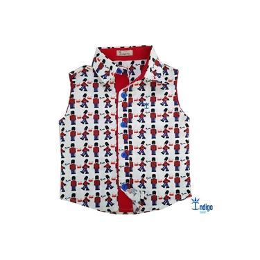 Camisa Regata Infantil Menino Soldadinho de Chumbo Brinquedos Índigo Trend