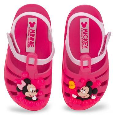 Sandália Clog Disney Sunny Baby Minnie Grendene Kids Rosa  feminino