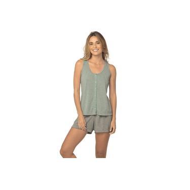 Pijama Curto Shortdoll DeMillus Baby 220144 Verde Etéreo