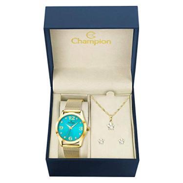38ac575e0c6 Relógio Feminino Champion CN29098O Dourado
