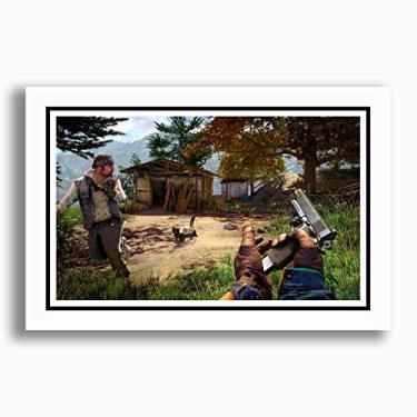Quadro Far Cry 4 60x40cm Game Filme Serie Decoracao Sala Copa Cozinha Loja Escritorio Pronto para Pendurar