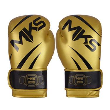 Luva de Boxe MKS Champions V3 Dourado/Preto (16 oz)