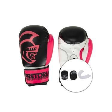 Imagem de Kit de Boxe Pretorian: Bandagem + Protetor Bucal + Luvas de Boxe Start - 12 OZ - Adulto