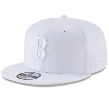 Boné snapback New Era x MLB masculino Boston Red Sox Basic 9Fifty branco ajustável