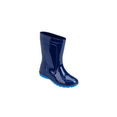 a4a32454dcb Bota Infantil Pega Forte Azul Galocha Grendene