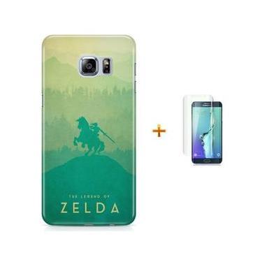 Kit Capa Case TPU Galaxy S6 Edge The Legend Of Zelda – Breath of The Wild + Pel Vidro (BD30)