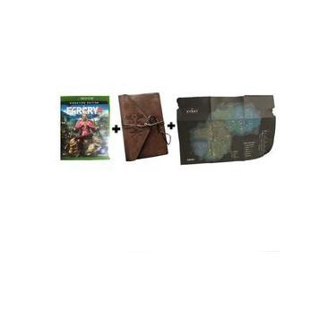 Kit Far Cry 4: Jogo + Agenda de Anotação + Poster Mapa - Xbox One