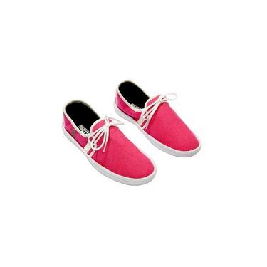 Sapatênis Feminino Polo Clássica Casual Caminhada Conforto Pink