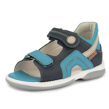 Memo Sandália ortopédica AFO para meninos Szafir (Bebê/Criança pequena), Azul-celeste/azul marinho, 9.5 Toddler