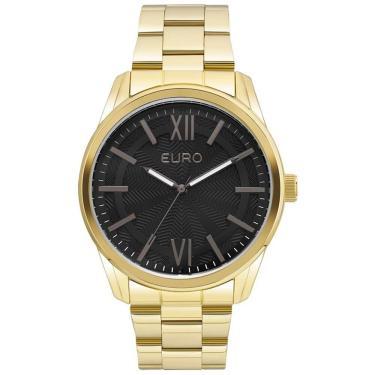 e2a2d4da1fa Relógio Feminino Euro Metal Glam EU2036LYB 4F Dourado