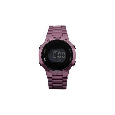 059424ffcb3 Relógio Euro Feminino Fashion Fit EUBJ3279AD 4T Roxo Digital -