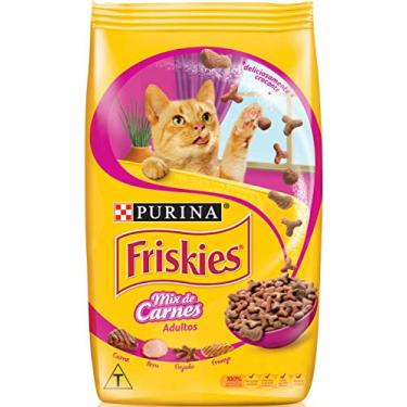 NESTLÉ PURINA Friskies Ração Seca para Gatos Adultos Mix de Carnes 500g