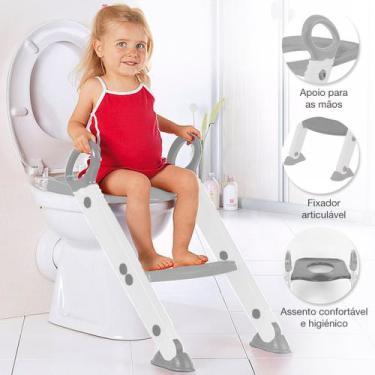 Assento Redutor Infantil Vaso Sanitário Escada Desfralde Cinza Buba