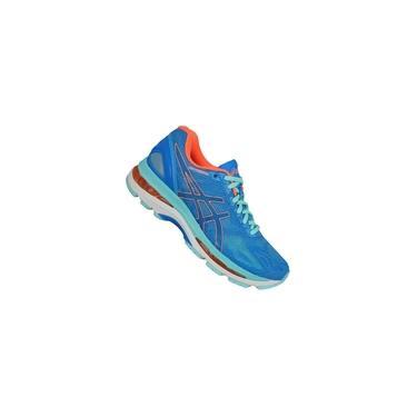 Imagem de Tênis Asics Gel Nimbus 19 - Azul e Laranja