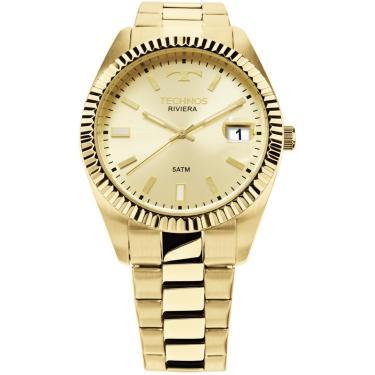6f37657240b Relógio Technos Riviera Dourado 2415CH 4X unissex