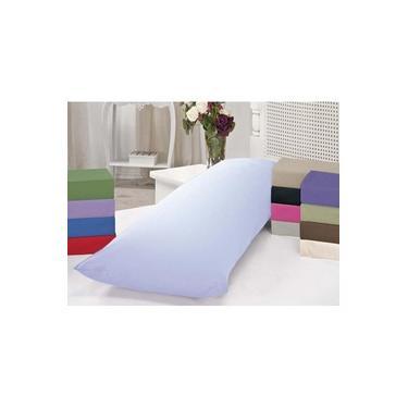 Imagem de Fronha Para Travesseiro De Corpo Casa Dona 200 Fios Com Zíper Branca
