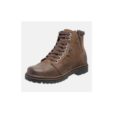 Bota Coturno Em Couro Mega Boots 6027 Chumbo-cafe  masculino